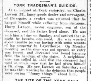 Charles Lawson's death in June 1923, as reported by the Yorkshire Post. | Sheffield Archives - Online UK Newspaper Archives