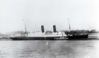 The Laconia at New York in 1912 | Frank Braynard, Public Domain licence, Wikipedia