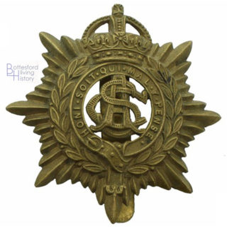 Army Service Corps cap badge, WW1