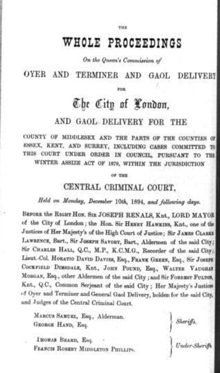 An example of one of the Notices that were published to announce a forthcoming case to be heard a the Old Bailey during George Hand's year as one of the Sheriffs of the Court.   British Newspaper Archive: Middlesex, London, Old Baily court records 1674-1913 Old Bailey/Central Criminal Court Proceedings 1674-1913 www.oldbaileyonline.org
