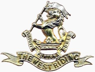 West Riding Regiment (Duke of Wellington's) cap badge | Wikipedia public domain