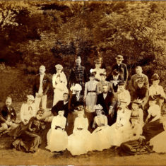 Owen family group, Edwardian garden party