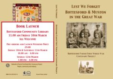 Book Launch  - Lest We Forget: Bottesford & Muston in the Great War