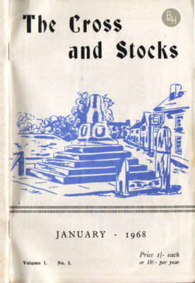 The front cover of the first issue of The Cross & Stocks parish magazine, from January 1968. | Bottesford Heritage Archive