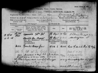 John William Damms' military service record, 1919. | The National Archive