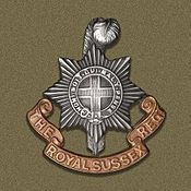 Royal Sussex Regiment cap badge, WW1 | Wikipedia