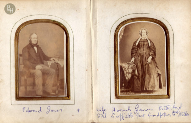 Edward James 1810 -1903 and Hannah James 1813-1894. | Bottesford Heritage Archive: from the album of Mrs Audrey Cole