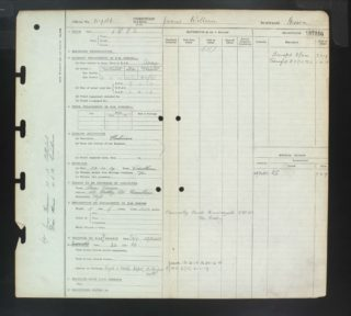 James Geeson's RFC-RAF service record sheet. | The National Archive