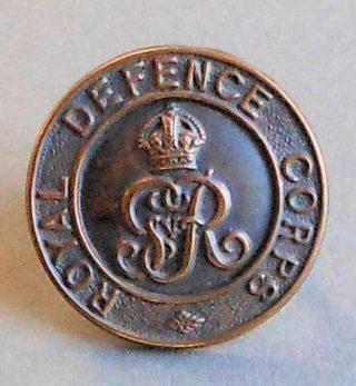 Royal Defence Corps cap badge, WW1 | Bottesford Heritage Archive