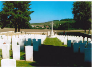 A general view of Courmas Military Cemetery, Marne | Private collection
