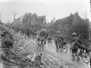 British Army Cyclists in the Somme, 1917. | Wikipedia , public domain image