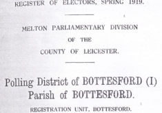 Servicemen in the 1919 Register of Electors in Bottesford and Muston