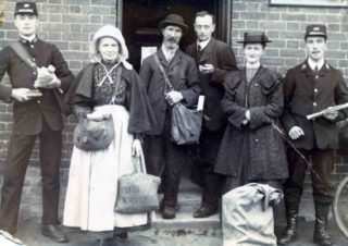 Staff of Bottesford Post Office taken in 1912: James Rawdin is at the extreme right. | Courtesy of Bill and Barbara Sutton