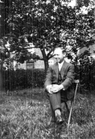 John William Sutton at home in Wiltshire.   From the private papers of the late Mrs Dorothy Beedham.