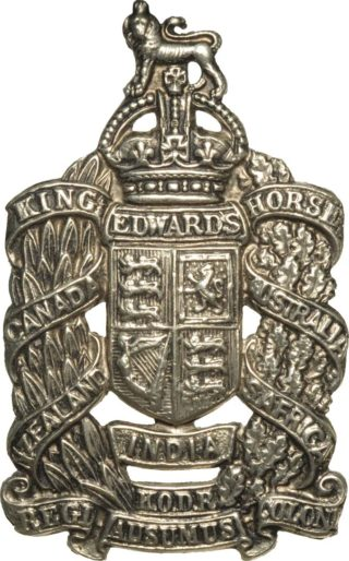 King Edwards Horse cap badge