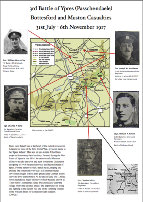 Bottesford and Muston 3rd Battle of Ypres Casualties