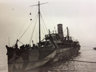 SS Peel Castle in WW1 war service. | Wikipedia: By Unknown - Harvey Milligan, Public Domain image.