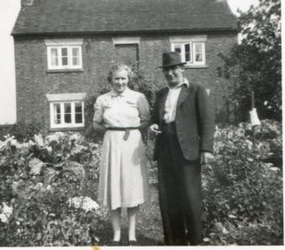 William and Edith at Pacey's Penfold House, 1950. | From the private collection of Mr Bill Pinfold.