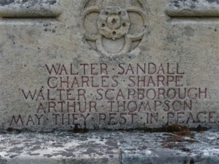 Walter Blankley Harby remembered on Rippingale Memorial as Walter Scarborough.