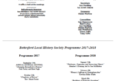 Bottesford Local History Society  - Programme 2017/2018