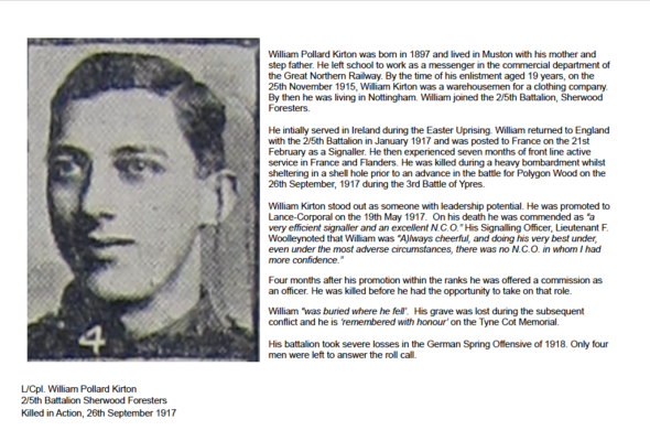 Remembering L/Cp. William Pollard Kirton