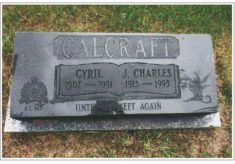 'Cal' Calcraft - A Mountie in the family