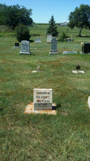 Tom Calcraft's grave marker in Rosetown Cemetery | Bill Pinfold 2017