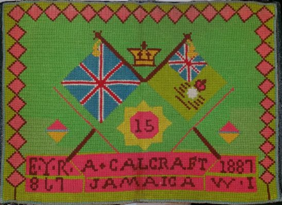 Alfred Calcraft Sampler | With the kind permission of Mrs. R. Calcraft