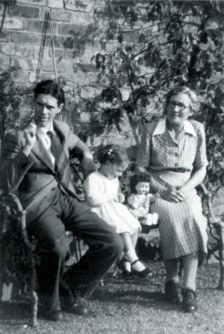 Diane (Coates) in childhood with her father (Fred) and Ada Philips (John's Mother) | Courtesy of Diane Coates