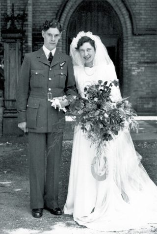 Fred and Marjorie at their wedding, 4th August 1945 | Courtesy of Diane Coates