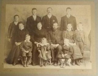 Joseph and Ann Calcraft's family circa 1899.   Courtesy of Ruby, Shirley and Michael Calcraft