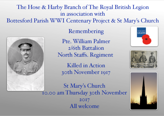 Remembering Pte. William Palmer