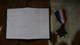 Alfred Calcraft's 1914-15 Medal | B Pinfold