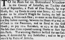 Stamford Mercury, 7th September, 1738.