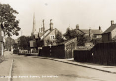 Belvoir Road, postcard of north end