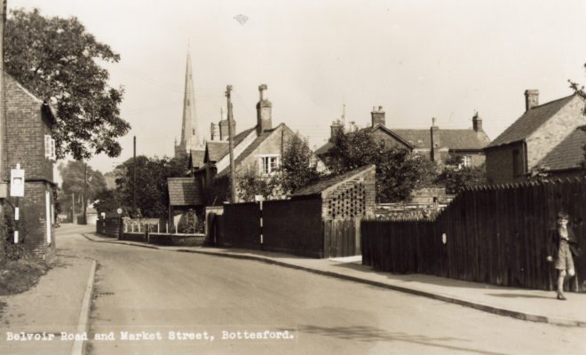 Belvoir Road, postcard of north end