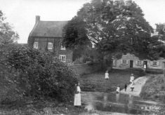 Postcard of the ford on Devon Lane, pre-WW1