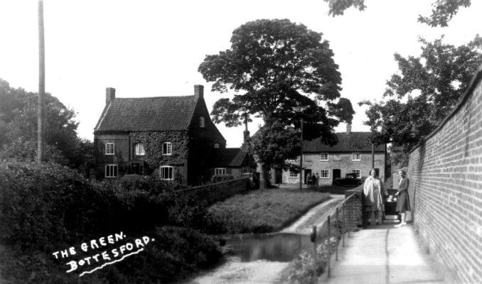 Ford and footbridge on Devon Lane, c.1960.