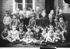 Bottesford school, junior class in yard