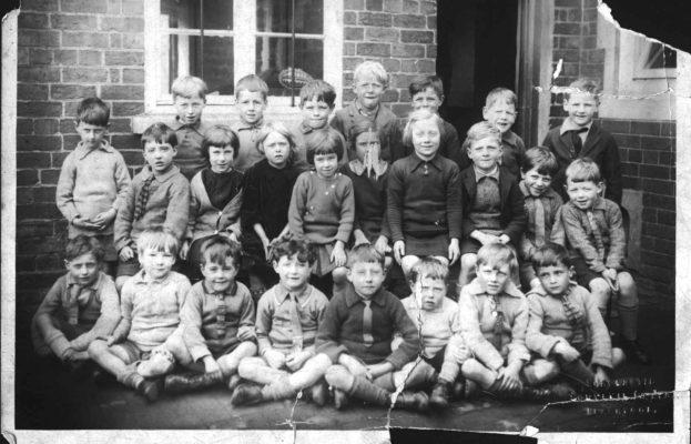 Bottesford school, junior class in yard
