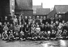 Bottesford school children posed in the school yard.