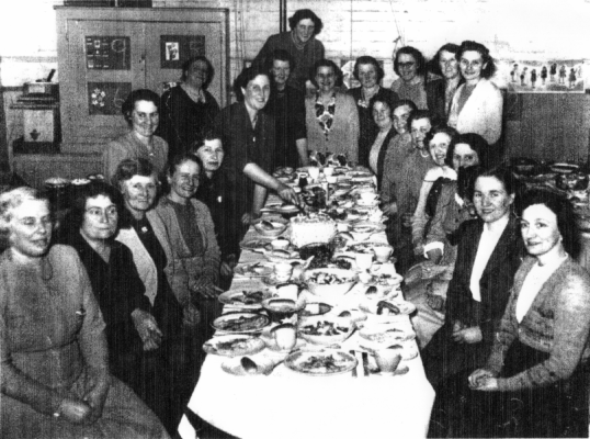 Guests at the W.I. dinner, 1950.