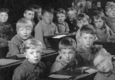 Bottesford school boys in class