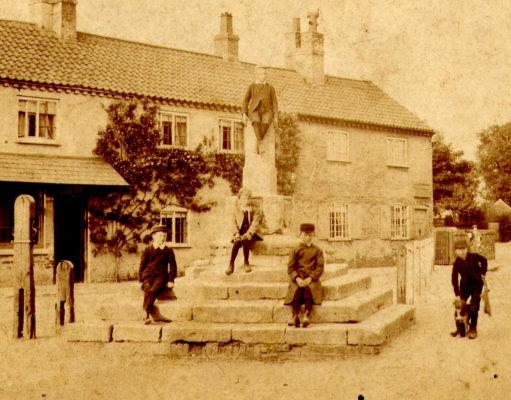 Children at the village cross
