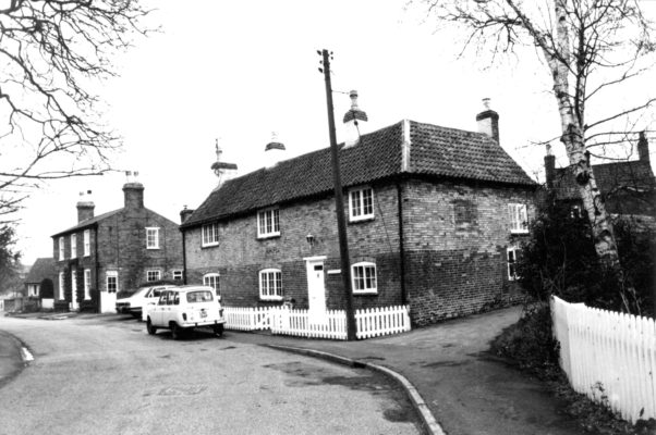 Church Street houses and cars