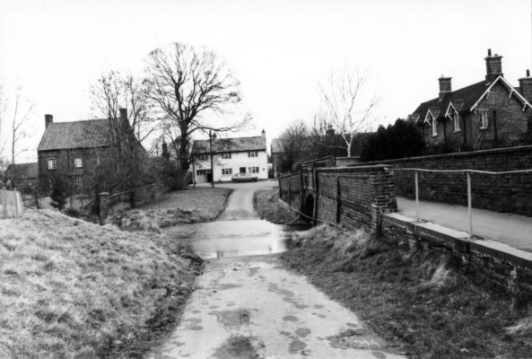 The ford on Devon Lane looking towards The Green.