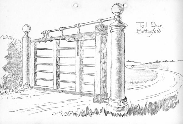 Drawing of Bottesford turnpike toll gate.