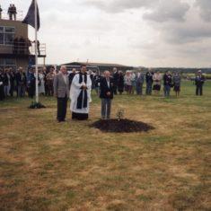 Planting the Memorial Tree at RAF Bottesford, 1995.