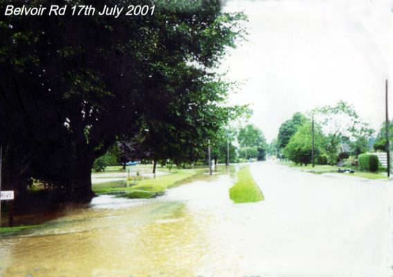 Flooding in July 2001, Belvoir Road and Keel Drive