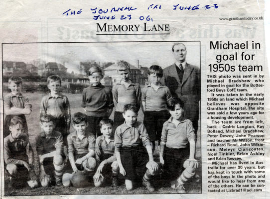 Bottesford Primary School 1950s football team